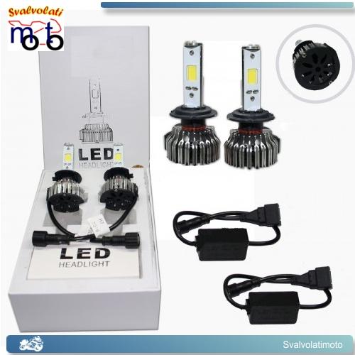 H7 LED CON CENTRALINE  6000K YAMAHA TMAX T MAX 500 2009 KIT FARI H4 BI LED